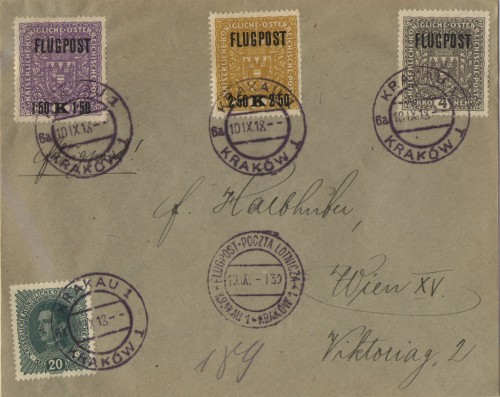 Just before the end of WWI, the first scheduled airmail